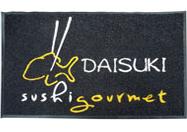 Tapete de hule con logotipo